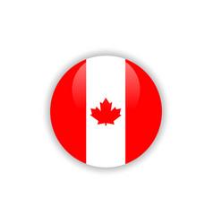 Button canada flag template design vector