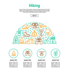 camping hiking card vector image