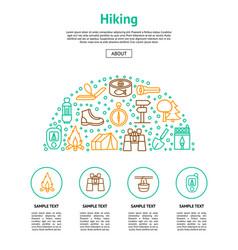 camping hiking card vector image