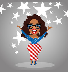 caricature of celebrity oprah winfrey vector image