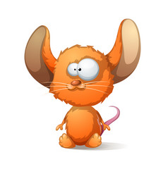 cartoon mouse with big ear vector image