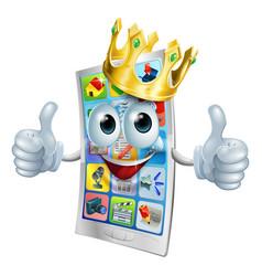 Cell phone cartoon king vector
