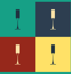Color jewish goblet icon isolated on color vector