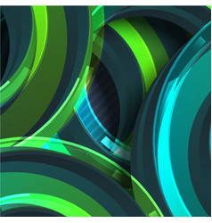 colorful green circle abstract background vector image