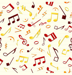 colorful music seamless pattern vector image