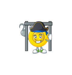 Cool one hand pirate chinese gong wearing hat vector