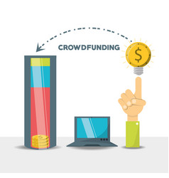 crowdfunding business financial company support vector image