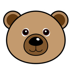 cute bear cute animal faces vector image