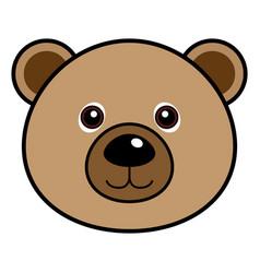 Cute bear cute animal faces vector