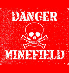 danger minefield vector image