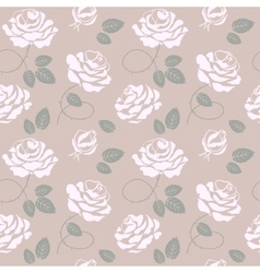 delicate roses background seamless pattern vector image