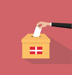 denmark vote election concept vector image