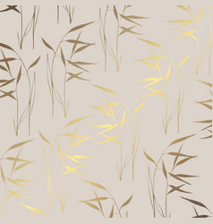 design with herbs with imitation gold vector image