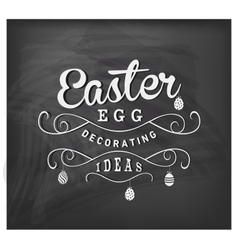 Easter Egg Decorating Ideas Typographical Text vector