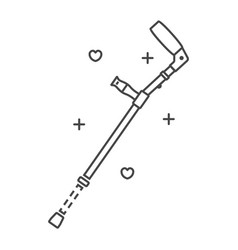 elbow crutch icon outline style vector image