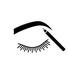 Eyebrows shaping glyph icon vector