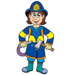 fireman with axe vector image