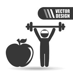 fitness sport design vector image