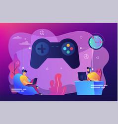 Gaming disorder concept vector