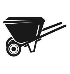 garden wheelbarrow icon simple style vector image