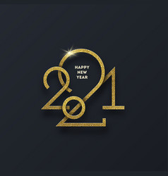 Golden 2021 new year logo vector