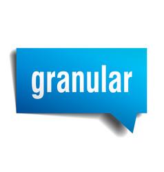 Granular blue 3d speech bubble vector