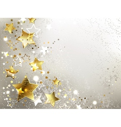 Gray Background with Gold Stars vector