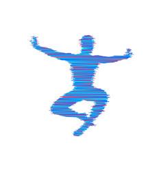 gymnast gymnastics activities for icon health vector image