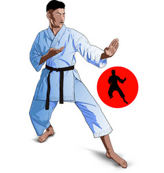 karate kid pose vector image