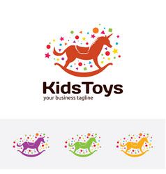 Kids toys logo vector