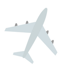 large plane with four jet engines airplane for vector image