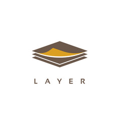 Layers logo design vector
