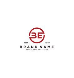 Letter be logo design vector