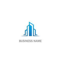 modern building company logo vector image