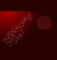 Monaco map polygonal futuristic mosaic red vector