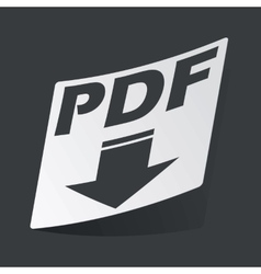 Monochrome PDF download sticker vector