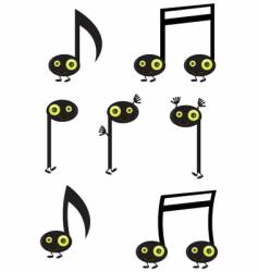 music note characters vector image