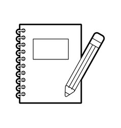notebook school with pencil vector image