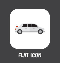 of automobile symbol on limo vector image