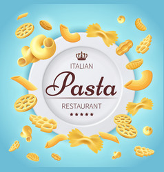 pasta italian restaurant traditional kitchen food vector image