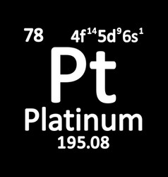 periodic table element platinum icon vector image