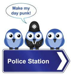 POLICE STATION SIGN vector image