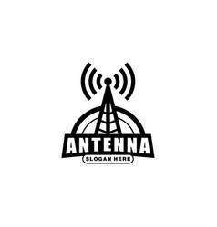 radio antenna wireless vector image