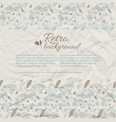 retro greeting natural background vector image