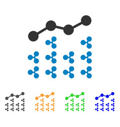 Ripple analytics icon vector