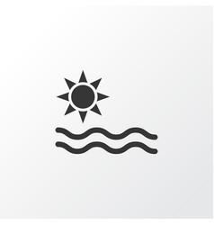 sea icon symbol premium quality isolated summer vector image