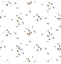 Seamless floral pattern with cute tiny small vector