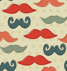Seamless Pattern with Hipster Mustaches Background vector image