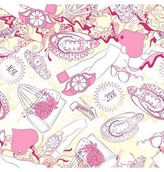 Seamless pattern with women belts and fashion vector