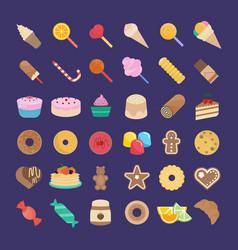 Set candy vector
